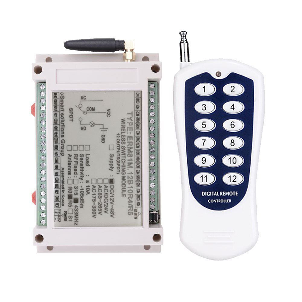[ATI]ERM81M.12B10R3XX  무선 DC모터  정/역회전 컨트롤 스위치 12 채널,12~48VDC 겸용