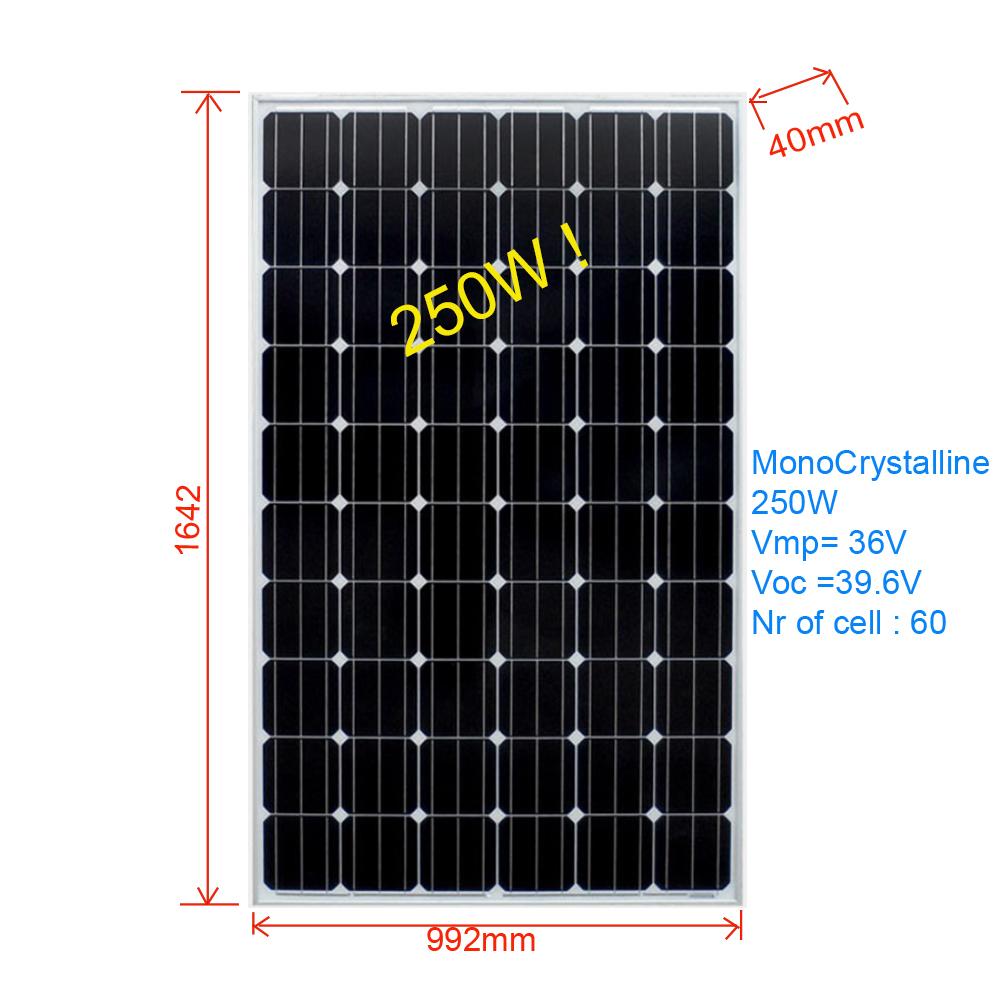 [ATI/OEM]SPM82.M96250  단결정PV 250W 태양전지 파넬