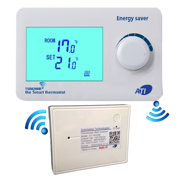 [ATI]TSR02HHR-ETWR01A 무선 디지털 난방온도조절기/1채널