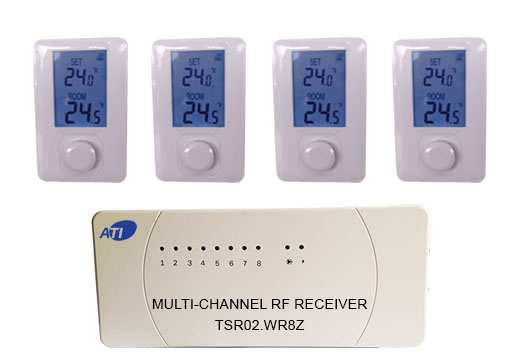 [ATI]TSR02HVR-ET400 무선 각방 온도조절기 방4개용