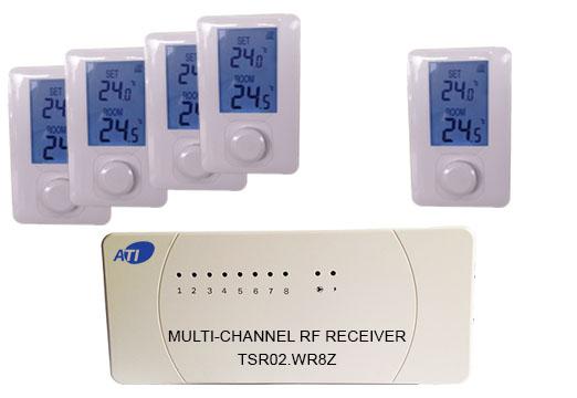 [ATI]TSR02HVR-ET500  무선 디지털 난방온도 조절기/방 5개