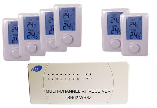 [ATI]TSR02HVR-ET600 무선 디지털 난방온도 조절기 방6개용