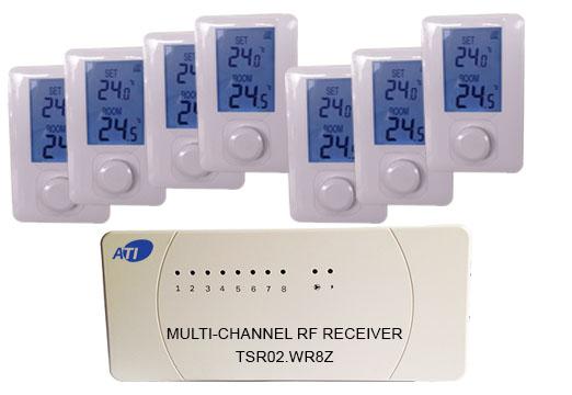 [ATI]TSR02HVR-ET700  무선 디지털 난방온도조절기 방7개