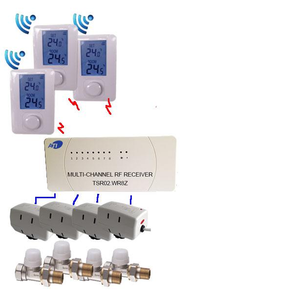 [ATI]TSR02HVR-DIY-3R-4V15S-4S3160<br>무선 각방 온도조절기 DIY 키트,방3개/밸브4개 용